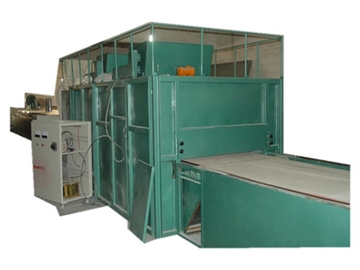 Blister box flocking line